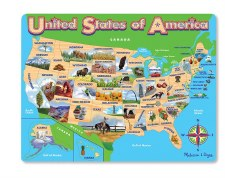 Melissa & Doug Jigsaw Puzzle- USA Map