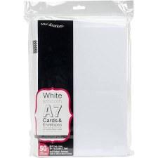 Core'dinations A7 Cards & Envelopes, 50pk- White