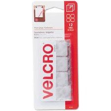 "Velcro Sticky Back Squares, 7/8""- Clear"