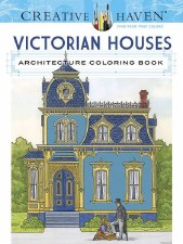 Creative Haven Adult Coloring Book- Victorian Houses
