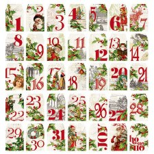 Simple Vintage Christmas Die Cuts- Number Tags