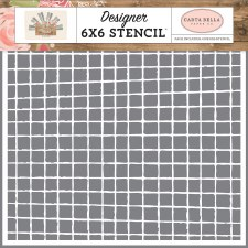 Farmhouse Market 6x6 Stencil- Vintage Grid