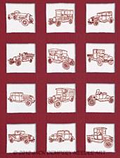 "9"" Quilt Blocks- Vintage Vehicles"