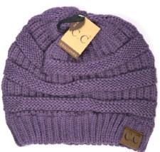 CC Knit Beanie- Violet