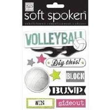MAMBI Soft Spoken Stickers- Volleyball- Volleyball Bumb Set