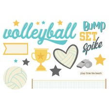 Simple Pages: Page Pieces Die Cuts- Volleyball