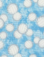 Score! Sports Bolted Fabric- Volleyballs + Nets