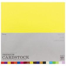 """12x12"""" Premium Cardstock, 100ct- Super Textured Assortment"""