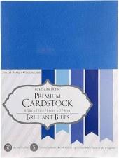 """8.5x11"""" Premium Cardstock, 50ct- Brilliant Blues"""