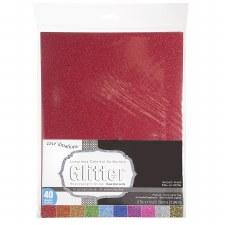 "8.5x11"" Glitter Cardstock Value Pack, 40ct"