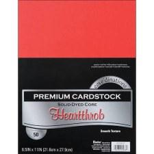 "8.5x11"" Premium Cardstock, 50ct- Hearthrob"