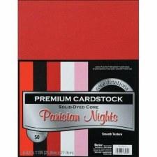 """8.5x11"""" Premium Cardstock, 50ct- Parisian Nights"""