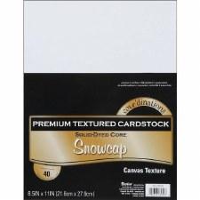 """8.5x11"""" Premium Cardstock, 40ct- Snowcap"""