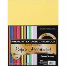 """8.5x11"""" Premium Cardstock, 160ct- Super Textured Assortment"""