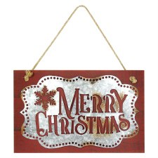 Hanging Merry Christmas Plaque