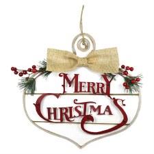 Merry Christmas Ornament Wall Art