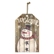 """Snowman Welcome Sign, 19"""""""