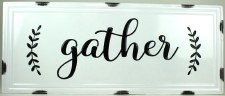 Gather by Nicole Metal Wall Sign- Gather