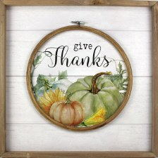 """Gather by Nicole 15"""" Sign- Give Thanks"""