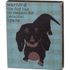 Wood Box Sign- Warning