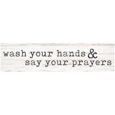 Skinny & Small Wood Sign- Wash Your Hands