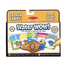 Melissa & Doug On The Go Water Wow- Splash Cards, Shapes! Numbers! Colors!