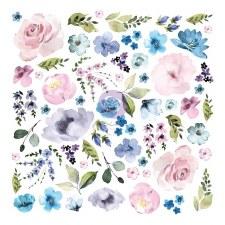 Watercolor Floral Ephemera Die Cuts- Florals