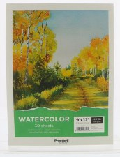 "Premiere 9x12"" Watercolor Paper Pad, 30 Sheets"