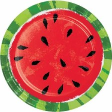 "Juicy Watermelon Paper Plates, 9""- 8ct"