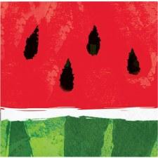 "Juicy Watermelon Napkins, 5""- 16ct"