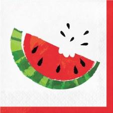 "Juicy Watermelon Napkins, 6.5""- 16ct"