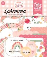 Welcome Baby Girl Die Cuts- Ephemera
