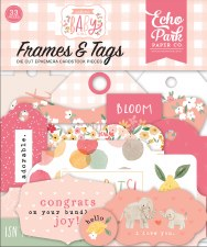 Welcome Baby Girl Die Cuts- Frames & Tags