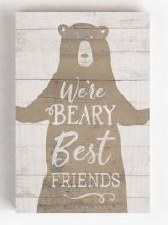 Wood Block Sign, Small- Beary Best Friends