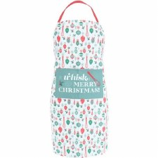 Krumbs Kitchen Holiday Apron- Whisk You a Merry Christmas