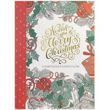 Adult Coloring Book- We Wish You a Merry Christmas