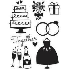 Darice Embossing Folder- Celebrations- Wedding Icons