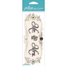 Jolee's Wedding Dimensional Title Stickers- Mr. & Mrs.