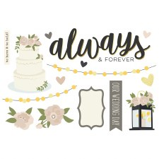 Simple Pages: Page Pieces Die Cuts-  Wedding