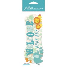 Jolee's Baby Dimensional Title Stickers- Welcome Baby Boy