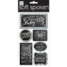 MAMBI Soft Spoken Stickers- Baby- Welcome Baby Boy