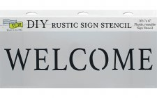 "DIY Rustic Sign Stencil, 16.5""x6""- Welcome"