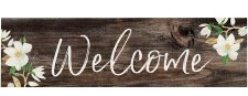 Skinny & Small Wood Sign- Welcome