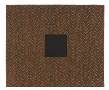 American Crafts D-Ring Cloth Album- Woodgrain Chevron