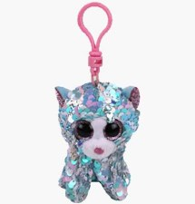 Beanie Flippable Sequins Collecion, Clip- Whimsy the Cat
