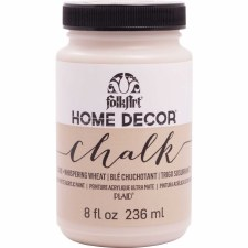 FolkArt Home Decor Chalk Paint 8 oz- Whispering Wheat