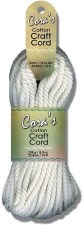 Cora's Cotton Craft Cord- White, 4mm