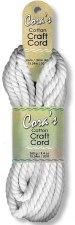 Cora's Cotton Craft Cord- White, 6mm