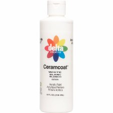 Delta Ceramcoat Acrylic Paint, 8oz- White
