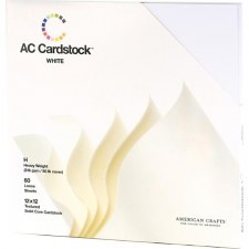 12x12 AC Cardstock Pack- White